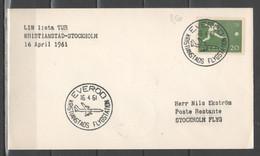 Svezia 1961 - Volo Kristianstad-Stockholm             (g7213) - Briefe U. Dokumente