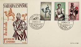 1959 Sahara Español FDC Dia Del Sello - Sahara Spagnolo