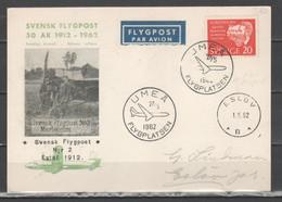 Svezia 1962 - 50° Posta Aerea - Annullo Umea               (g7215) - Briefe U. Dokumente