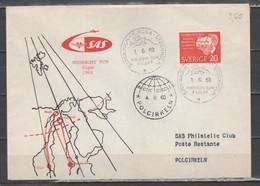 Svezia 1963 - Primo Volo Kiruna-Bardufoss-Kirkenes               (g7216) - Briefe U. Dokumente