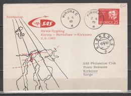 Svezia 1963 - Midnight Sun Flight - Volo Del Sole Di Mezzanotte - Stockholm-Kiruna-Stockholm               (g7218) - Briefe U. Dokumente