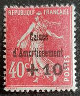 FRANCE    Au Profit De La Caisse D'Amortissement    N° Y&T  266  * - Nuovi