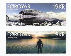 Faroer 2019 Laghi / Dänemark Färöer 2019 Mi-Nr. 948 + 949 Seen - Färöer Inseln