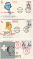FRANCE CROIX ROUGE 1959  1226 / 1227  3 ENVELOPPES 1ER JOUR - Briefe U. Dokumente
