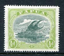 Papua 1916-31 Lakatoi - P.14 - ½d Myrtle & Pale Olive-green HM (SG 93a) - Papúa Nueva Guinea