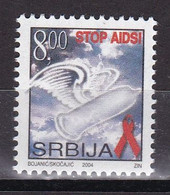 Yugoslavia Serbia 2004 For The Fight Against AIDS Medicine Health Disease Charity Surcharge Tax MNH - Krankheiten