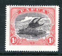Papua 1916-31 Lakatoi - P.14 - 1d Intense Black & Red HM (SG 94c) - Papúa Nueva Guinea