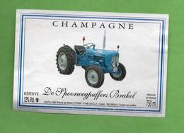 Etiquette  De Champagne  LITIERE    Vieux Tracteur - Champagne