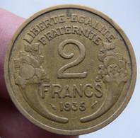 Rare 2 Francs Morlon En Alu-Br 1935 - I. 2 Francs