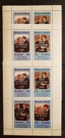 BERNERA ISLANDS SCOTLAND ROYAL WEDDING PRINCE ANDREW &M.S.FERGUSON 3 SHEETS OVERPRINT PERFORED MNH - Familias Reales