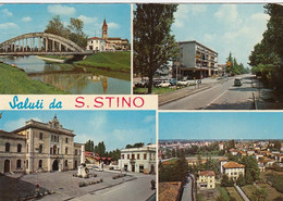 SAN STINO DI LIVENZA-VENEZIA-SALUTI DA..4 VEDUTE- CARTOLINA VERA FOTOGRAFIA-  VIAGGIATA IL 4-6-1974 - Venezia