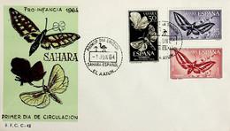 1964 Sahara Español FDC Pro Infancia - Sahara Spagnolo