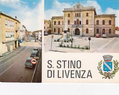 SAN STINO DI LIVENZA-VENEZIA-2 VEDUTE- CARTOLINA VERA FOTOGRAFIA-  VIAGGIATA - Venezia