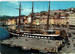 PORTO FERRAIO - ISOLA D'ELBA - NAVE SCUOLA PALINURO E DARSENA  (LI) - Livorno