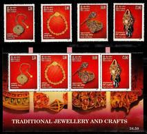(0491-492) Sri Lanka  1998 / Artefacts / Artisanat / Kunsthandwerk  ** / Mnh  Michel 1158-61 + BL 69 - Sri Lanka (Ceylon) (1948-...)