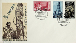 1965 Sahara Español FDC XXV Años De Paz - Sahara Spagnolo