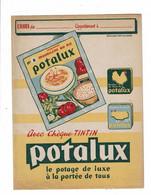 Protège Cahier POTALUX Potage De Luxe à La Portée De Tous Chèques Tintin - Book Covers