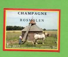 Etiquette  De Champagne   Losé  MARC   Rosmolem - Champagne
