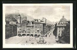 Cartolina Trento, Piazza V. Emanuele III - Trento