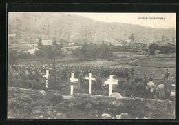 CPA Villers-sous-Prény, Des Soldats Bei Beerdigung - Unclassified