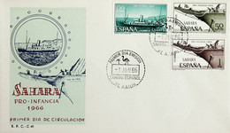 1966 Sahara Español FDC Pro Infancia - Sahara Spagnolo