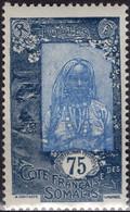COTE DES SOMALIS Poste 130 ** MNH Femme Somali (1) - Nuovi