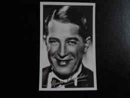 Z33 - Carte Photo Avec Signature - Maurice Chevalier - Singers & Musicians