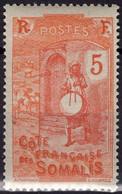 COTE DES SOMALIS Poste 103 ** MNH Joueur De Tambour 1922-1924 - Nuovi