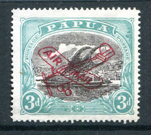 Papua 1930 Lakatoi - Airmails - 3d Black & Blue-green - Ash Printing - HM (SG 118) - Papua Nuova Guinea