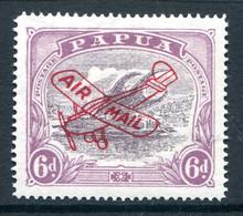 Papua 1930 Lakatoi - Airmails - 6d Dull Purple & Red-purple - Ash Printing - HM (SG 119) - Papua Nuova Guinea