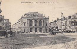 34 - Montpellier - Place De La Comédie Animée - Attelages - Le Théâtre - Montpellier