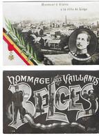 Bataille De Liège (Belgique)  Août 1914 Légion D'honneur à La Ville De Liège (2 Cartes) - Guerra 1914-18