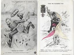 Bataille De Liège (Belgique)  Août 1914 Légion D'honneur à La Ville De Liège  Les Bouchons De Liège (2 Cartes) - Guerra 1914-18