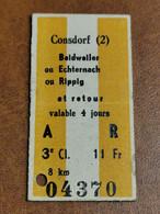 Luxembourg, Ligne Consdorf 2 (Beidweiler Echternach Rippig) . 1951 - Europa