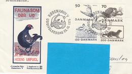 DANEMARK N° 608 / 611 ANIMAUX  OISEAUX SUR  LETTRE POUR ALLEMAGNE - Cartas