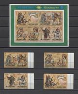 Aitutaki Art Christmas Paintings Religious 1977 Mi#262-69B Bl#16B MNH - Religious