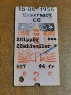 Luxembourg, Ligne Rippig Beidweiler CFL 1956 - Europa