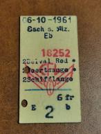 Luxembourg, Ligne Esch-Alzette Belval Noertzange Schifflange CFL 1961 - Europa