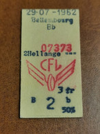 Luxembourg, Ligne Bettembourg HellangeCFL 1962 - Europa