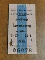 Luxembourg, Ligne Schifflange Luxembourg 1971 - Europa