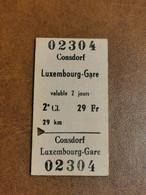 Luxembourg, Ligne Consdorf Luxembourg 1971 - Europa