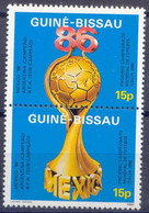 Soccer Football Guinea-Bissau #901/2 World Cup 1986 MNH ** - 1986 – Mexico