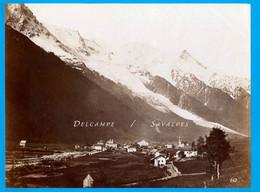 Rare Chamonix 1862 * Vue Des Plans (voir église Anglicane Et Futur Chemin Loppé) * Photo Albumine 19 X 25cm - Antiche (ante 1900)