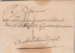 LAC Cachet ST SAVIN Vienne 9/1/1841 Taxe Manuscrite Pour Chatellerault Passe Poitiers - 1801-1848: Précurseurs XIX