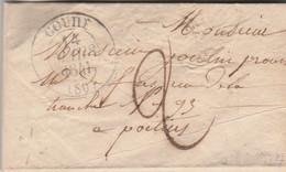 LAC Cachet COUHE Vienne 14/3/1841 Taxe Manuscrite Pour  Poitiers - 1801-1848: Précurseurs XIX