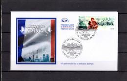 """2019 : """" 75 ANS DE LA LIBERATION DE PARIS """" Sur Enveloppe 1er Jour. N° YT  . Parfait état FDC - WW2"""