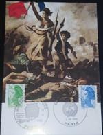 """CARTE MUSÉE DE LA POSTE """" LA LIBERTÉ """" PARIS 1986 FDC - 1980-1989"""