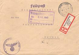R-Brief  Deutsche Dienstpost Ukraine Krementschnug - Meißen 1943 AKS - Officials