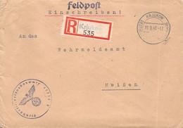 R-Brief  Deutsche Dienstpost Ukraine Krjukow - Meißen 1943 AKS - Officials