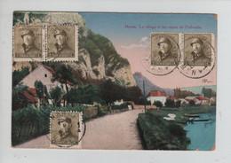 REF3186/ TP 166 (5) Albert Casqué S/CP Houx C. Namur 9/12/1920 > Roumanie - Cartas